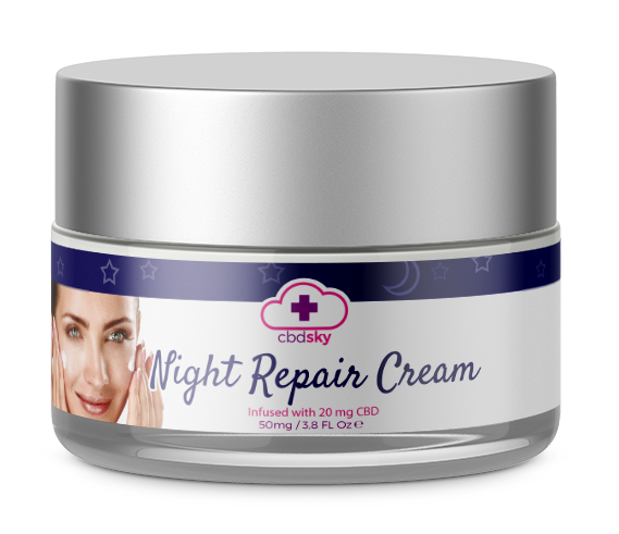 CBD Skin Care Night Repair Cream BEVERLY HILLS