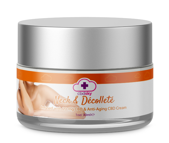 CBD NECK AND DECOLLETE ANTI AGING CREAM BEVERLY HILLS