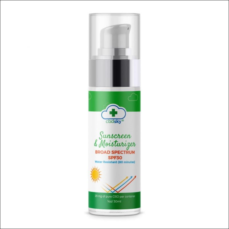 CBD Sun Screen Moisturizer SPF30 1oz 20mg